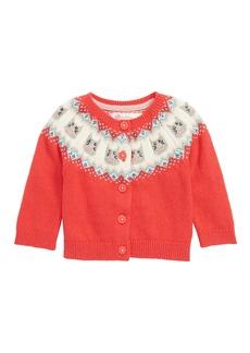 Mini Boden Fair Isle Cardigan (Baby Girls & Toddler Girls)