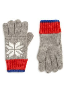 Mini Boden Fair Isle Knit Gloves (Toddler Boys, Little Boys & Big Boys)
