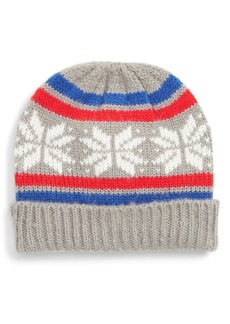 Mini Boden Fair Isle Knit Hat (Toddler Boys, Little Boys & Big Boys)