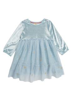 Mini Boden Fairy Wings Velvet & Tulle Party Dress (Baby)