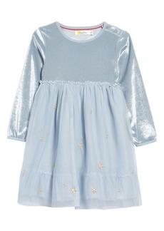 Mini Boden Fairy Wings Velvet & Tulle Party Dress (Toddler Girls)