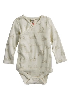Mini Boden Farmyard Organic Cotton Wrap Bodysuit (Baby Girls)