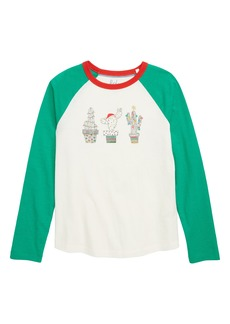 Mini Boden Festive Cacti Raglan Sleeve Tee (Little Girls & Big Girls)