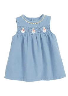 Mini Boden Festive Corduroy Dress (Baby)