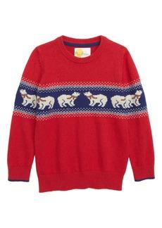 Mini Boden Festive Fair Isle Sweater (Toddler Boys, Little Boys & Big Boys)