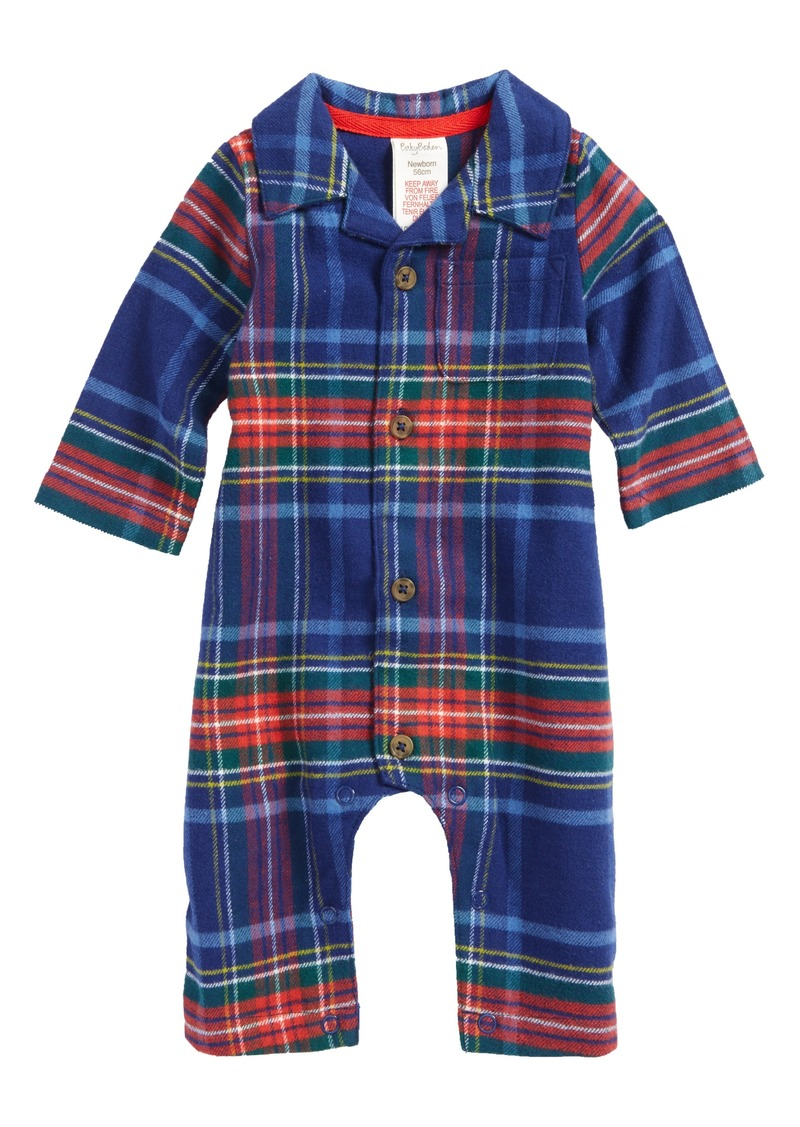 Mini boden mini boden festive flannel romper baby boys for Mini boden sale deutschland