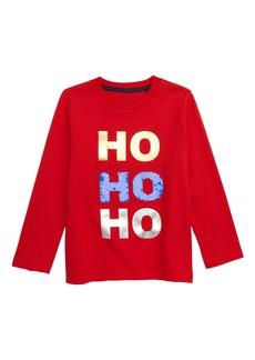 Mini Boden Festive Flip Sequin T-Shirt (Toddler Boys, Little Boys & Big Boys)