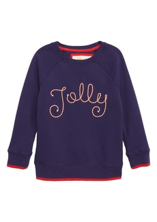 Mini Boden Festive Fun Sweatshirt (Little Girls & Big Girls)