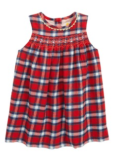 Mini Boden Festive Plaid Party Dress (Baby)