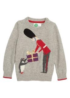 Mini Boden Festive Sweater (Toddler Boys, Little Boys & Big Boys)