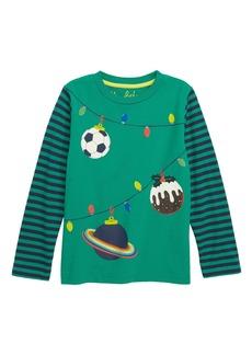 Mini Boden Festive T-Shirt (Toddler Boys, Little Boys & Big Boys)