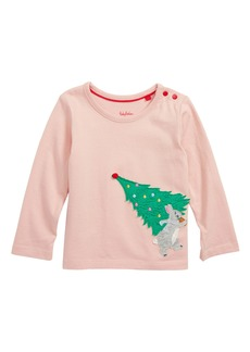 Mini Boden Festive Tree Appliqué Tee (Baby)