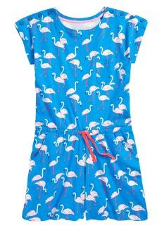 Mini Boden Flamingo Print Cotton Romper (Little Girls & Big Girls)