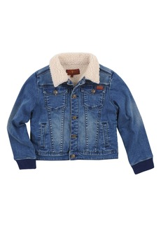 7 For All Mankind® Fleece Lined Denim Jacket (Big Boys)