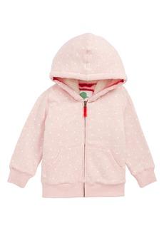 Mini Boden Fleece Lined Zip Hoodie (Toddler Girls, Little Girls & Big Girls)