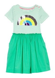 Mini Boden Flip-Sequin Dress (Toddler Girls, Little Girls & Big Girls)