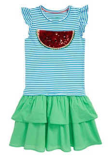 Mini Boden Flip Sequin Dress (Toddler Girls, Little Girls & Big Girls)