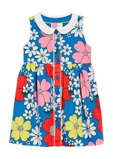 Mini Boden Floral Collared Dress (Toddler Girls, Little Girls & Big Girls)