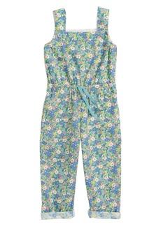 Mini Boden Floral Cotton Jumpsuit (Toddler Girls, Little Girls & Big Girls)