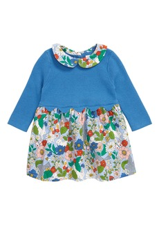 Mini Boden Floral Knit & Corduroy Dress (Baby)