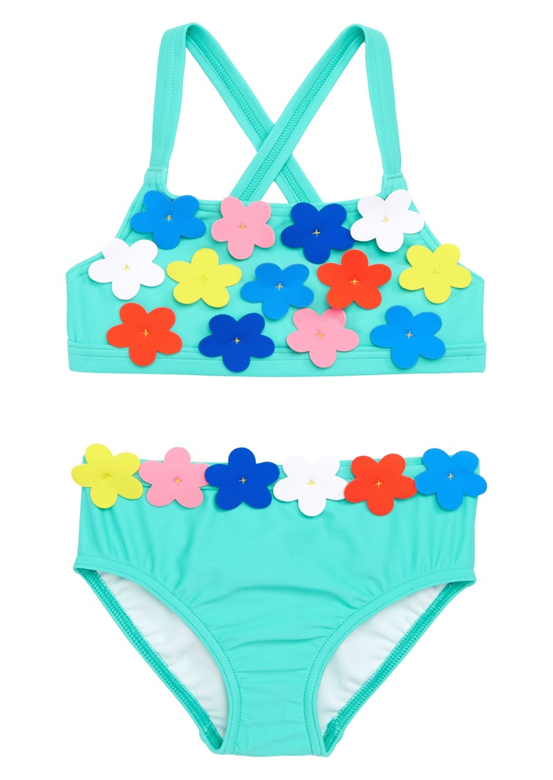 73ea7adc086b0 Mini Boden Flowery Two-Piece Swimsuit (Toddler Girls, Little Girls & Big  Girls