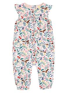 Mini Boden Flutter Sleeve Corduroy Romper (Baby Girls & Toddler Girls)