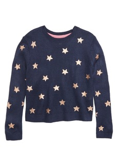 Mini Boden Foil Star Sweater (Little Girls & Big Girls)