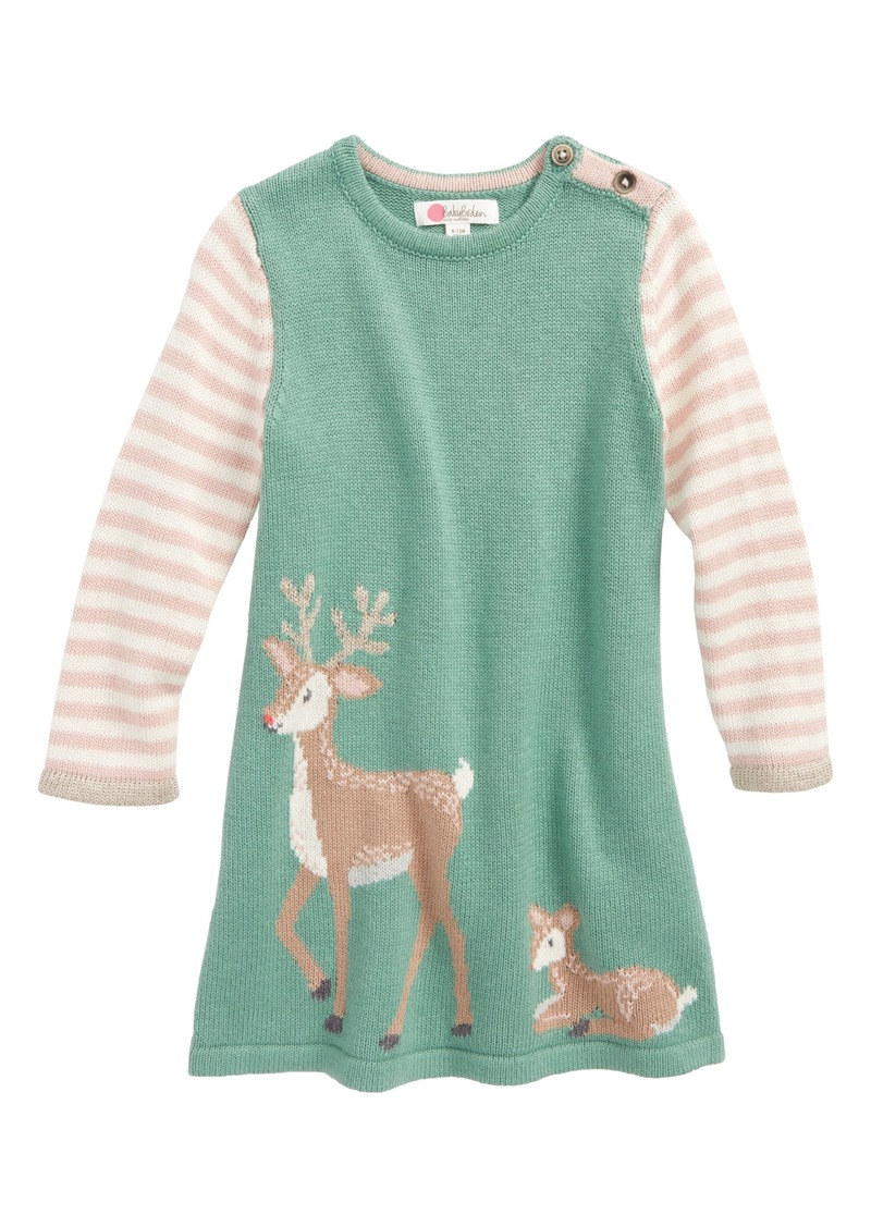 Mini boden mini boden forest friends intarsia knit dress for Mini boden sale deutschland