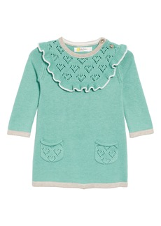 Mini Boden Frill Knit Sweater Dress (Baby Girls)