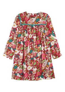 Mini Boden Frill Neck Print Dress (Toddler Girls, Little Girls & Big Girls)