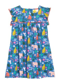 Mini Boden Frill Sleeve Jersey Dress (Toddler Girls, Little Girls & Big Girls)