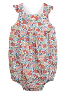 Mini Boden Frilly Floral Print Bubble Romper (Baby)