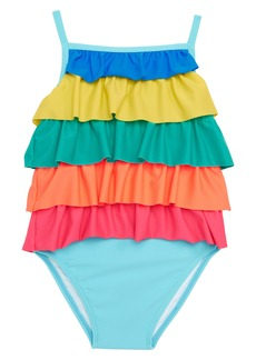 Mini Boden Frilly One-Piece Swimsuit (Baby Girls)