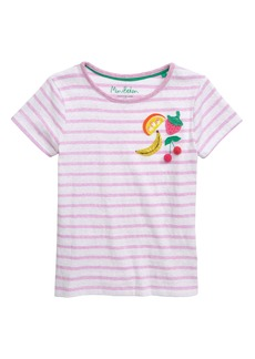 Mini Boden Fruit Sequin Stripe Tee (Toddler Girls, Little Girls & Big Girls)