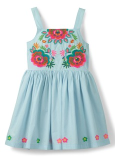 Mini Boden Fun Appliqué Sleeveless Dress (Toddler Girls, Little Girls & Big Girls)