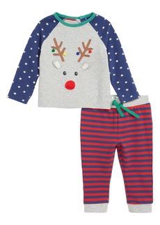 Mini Boden Fun Appliqué T-Shirt & Pants Set (Baby)