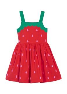 Mini Boden Fun Appliqué Woven Dress (Toddler Girls, Little Girls & Big Girls)