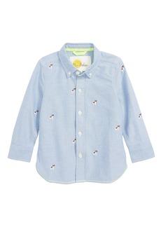 Mini Boden Fun Embroidered Shirt (Toddler Boys, Little Boys & Big Boys)