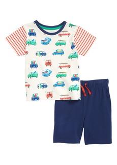 Mini Boden Fun Jersey T-Shirt & Shorts Set (Baby Boys & Toddler Boys)
