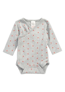 Mini Boden Fun Organic Cotton Wrap Bodysuit (Baby)