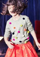 Mini Boden Fun Pompom Sweater (Toddler Girls, Little Girls & Big Girls)