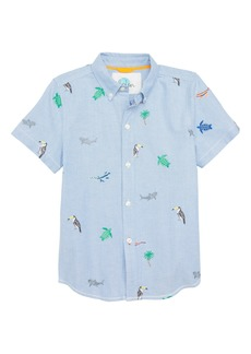 Mini Boden Fun Short Sleeve Button Down Shirt (Toddler Boys, Little Boys & Big Boys)