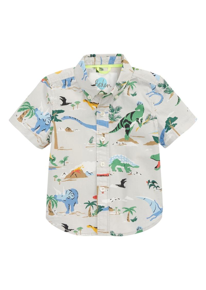 d4ca0eff2 Mini Boden Fun Short Sleeve Button Down Shirt (Toddler Boys, Little Boys &  Big