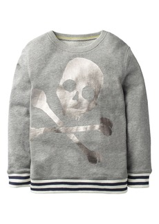 Mini Boden Fun Skull Sweatshirt (Toddler Boys, Little Boys & Big Boys)