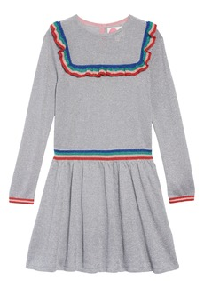 Mini Boden Fun Sparkle Sweater Dress (Toddler Girls, Little Girls & Big Girls)