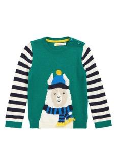 Mini Boden Fun Stripe Knit Sweater (Baby)