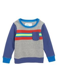 Mini Boden Fun Stripe Sweatshirt (Toddler Boys, Little Boys & Big Boys)
