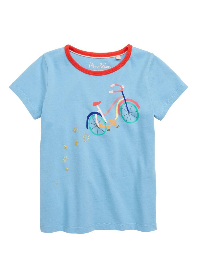 Mini Boden Mini Boden Glitter Logo Tee Toddler Girls Little Girls