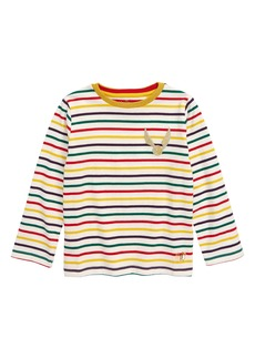 Mini Boden Harry Potter Golden Snitch Long Sleeve Stripe Tee (Toddler Girls, Little Girls & Big Girls)