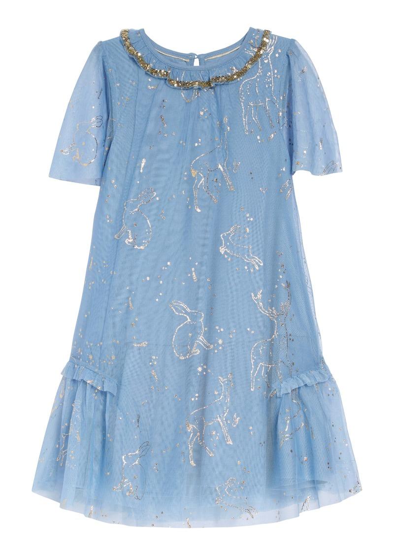 Mini Boden Harry Potter Patronus Party Dress (Toddler Girls, Little Girls & Big Girls)
